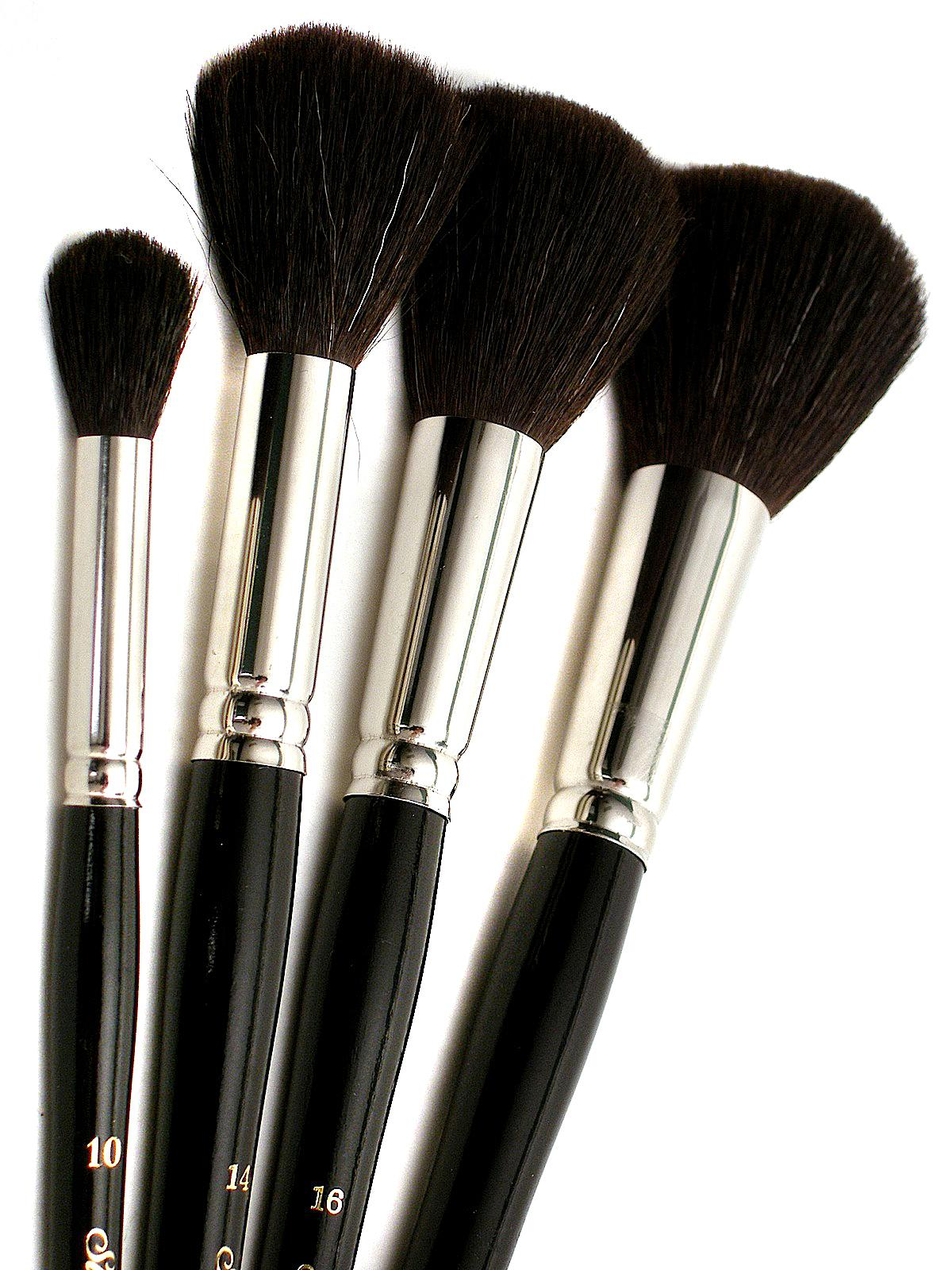 Silver Brush Black Round Oval Mop Brushes
