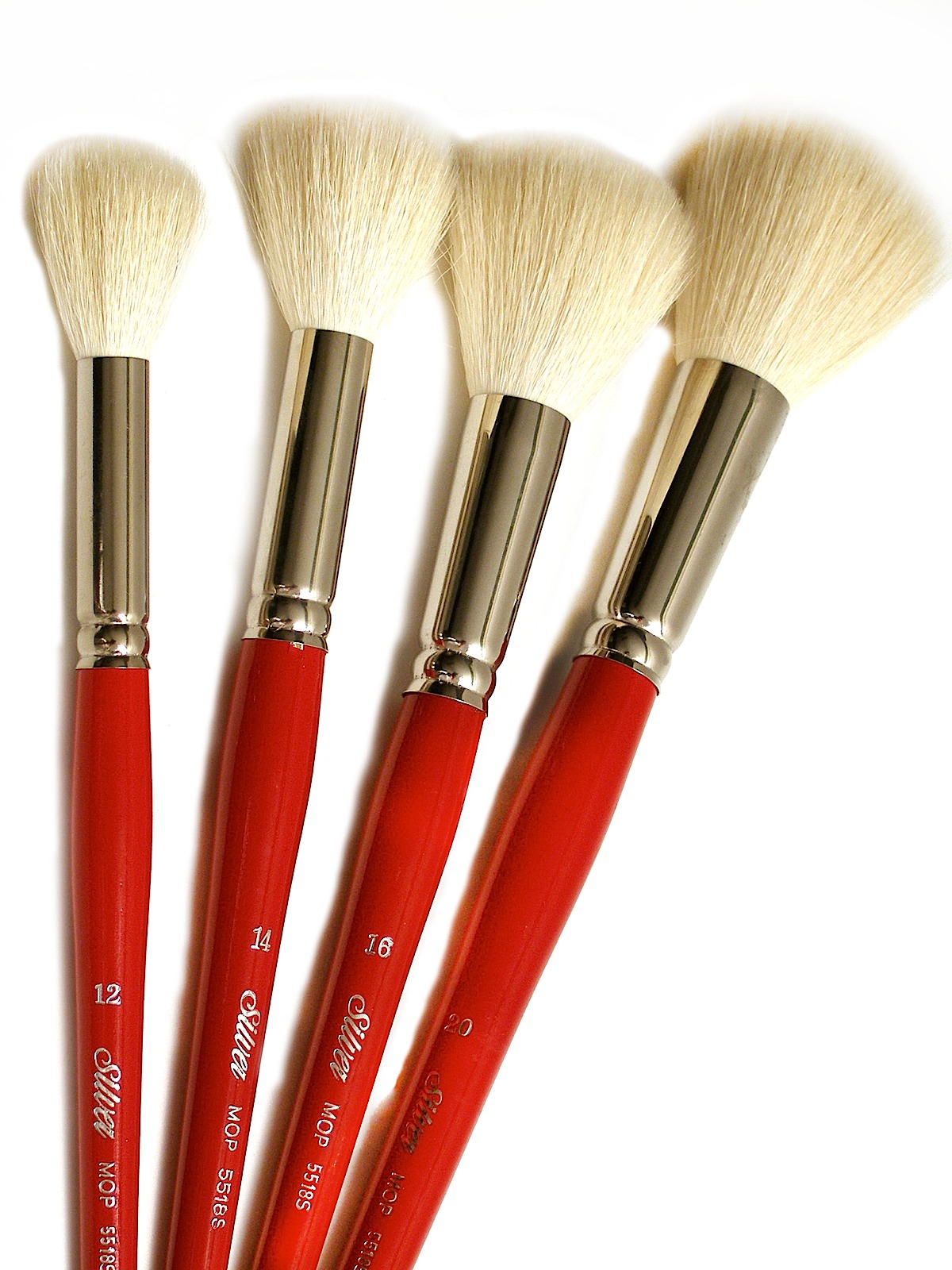Silver Brush White Round Oval Mop Brushes