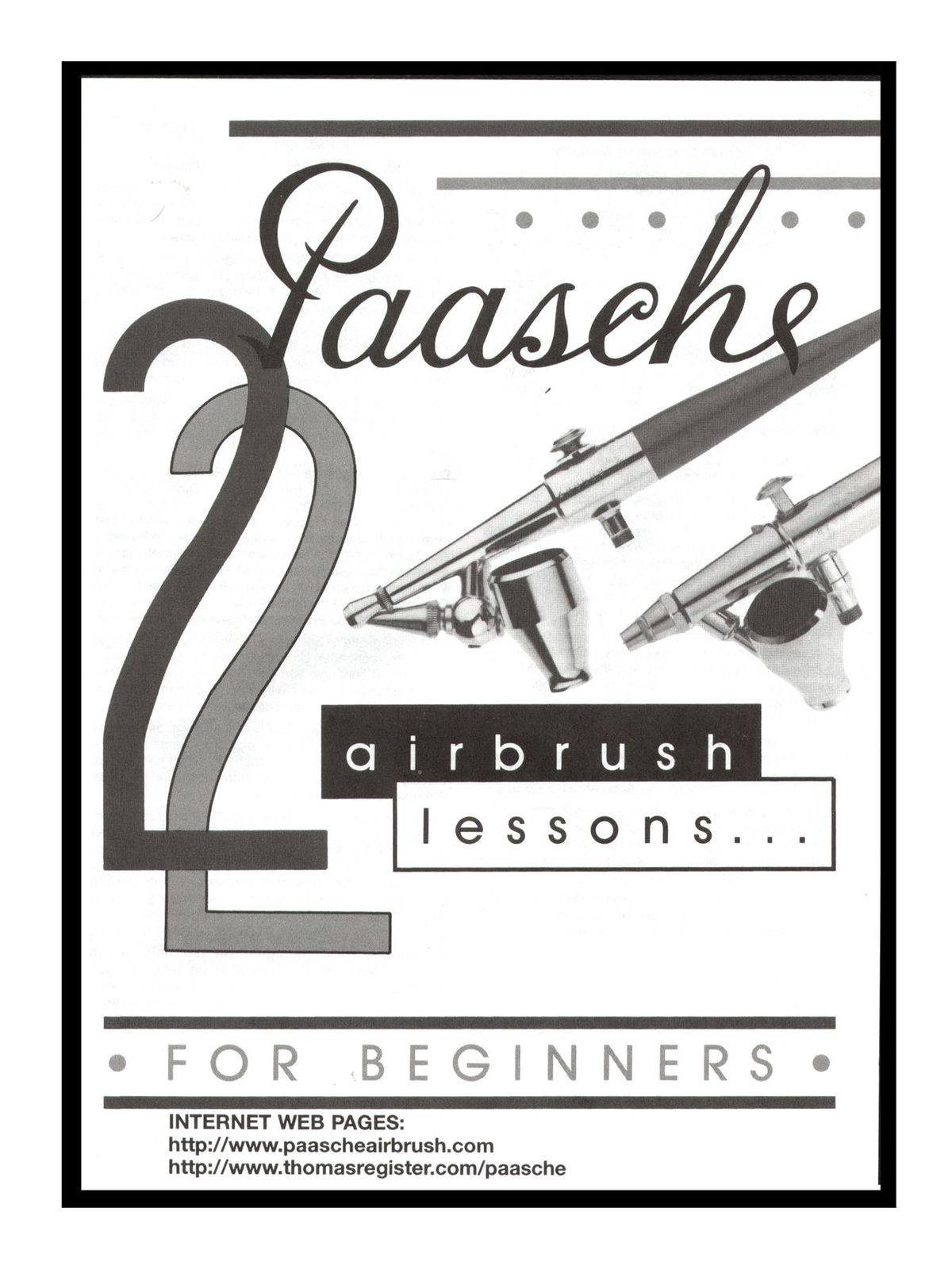 Paasche 22 Airbrush Lessons For Beginners