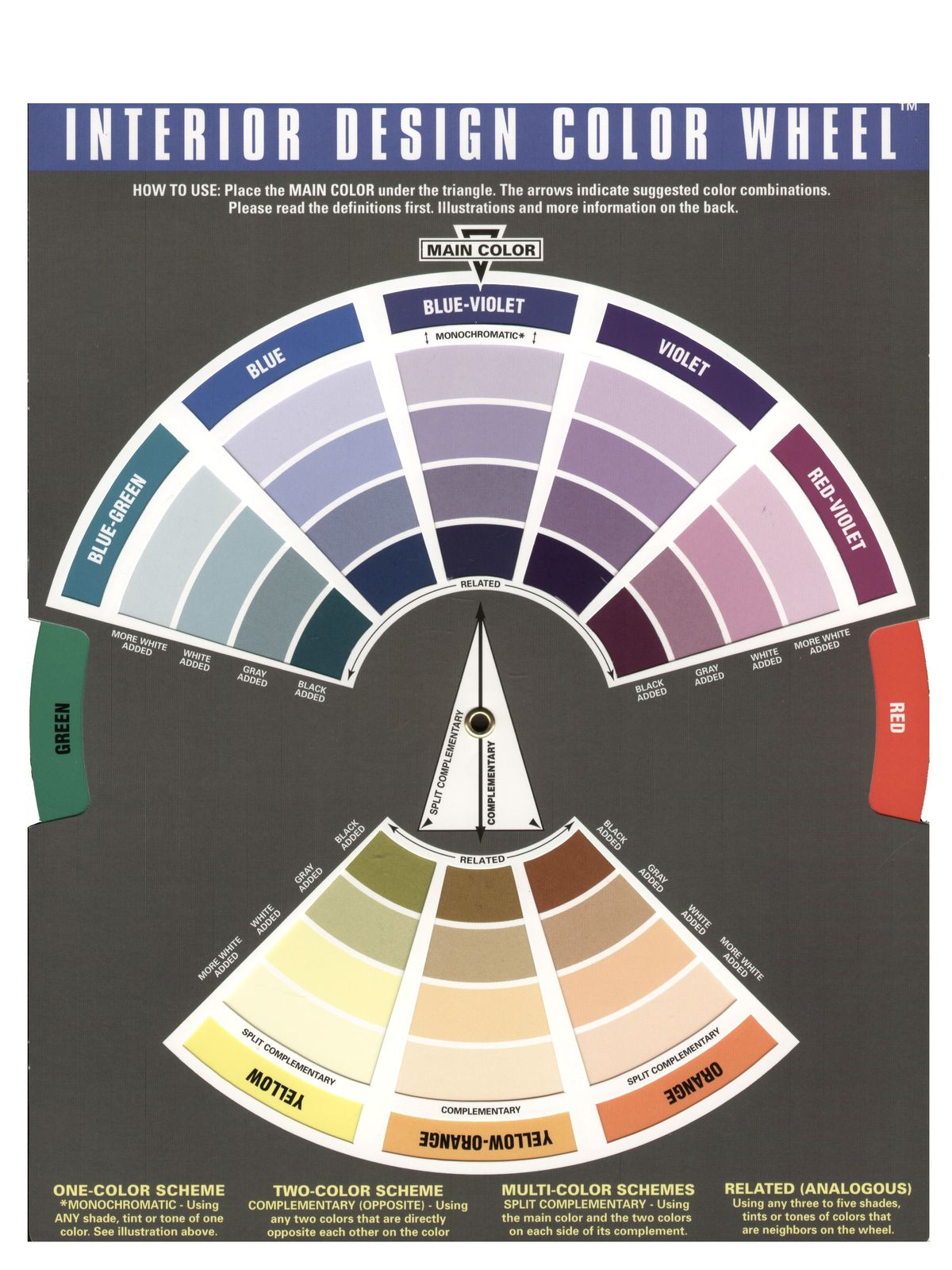 The color wheel company interior design wheel - Color wheel interior design ...