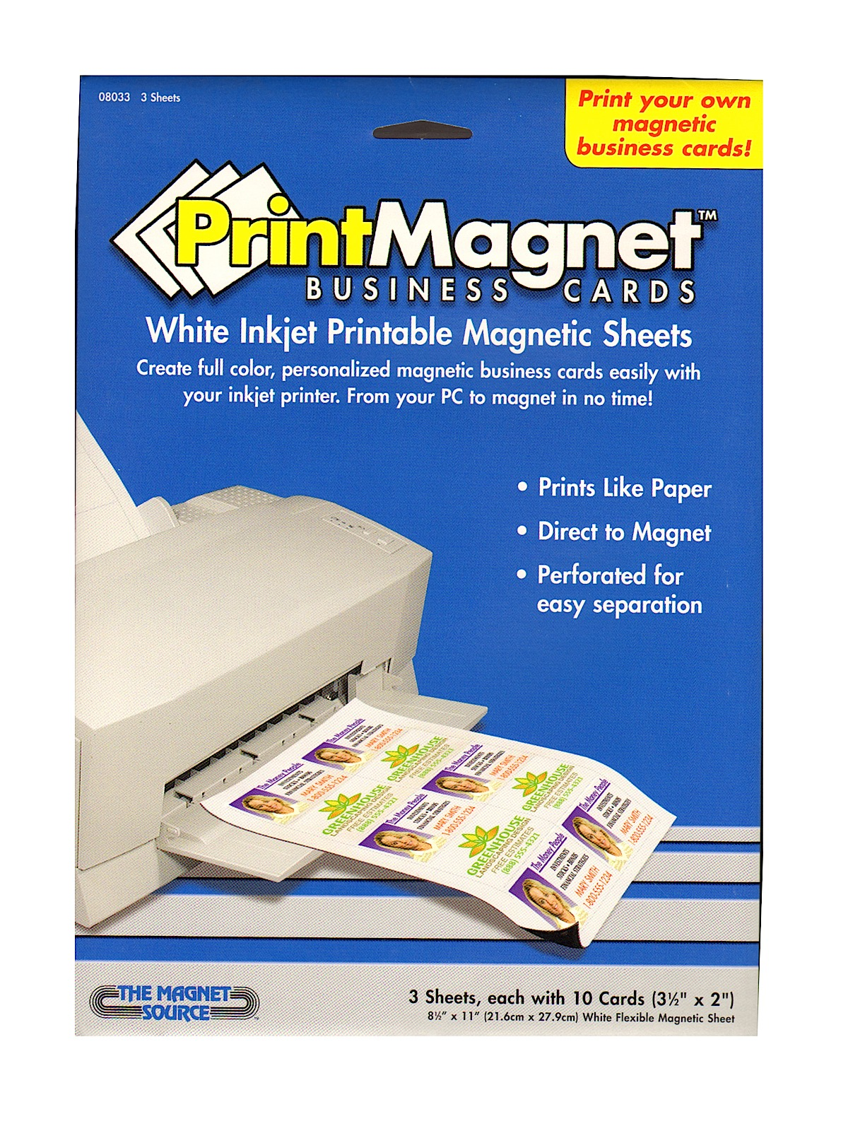 graphic about Printable Magnetic Sheets called The Magnet Resource Printmagnet Inkjet Printable Magnetic