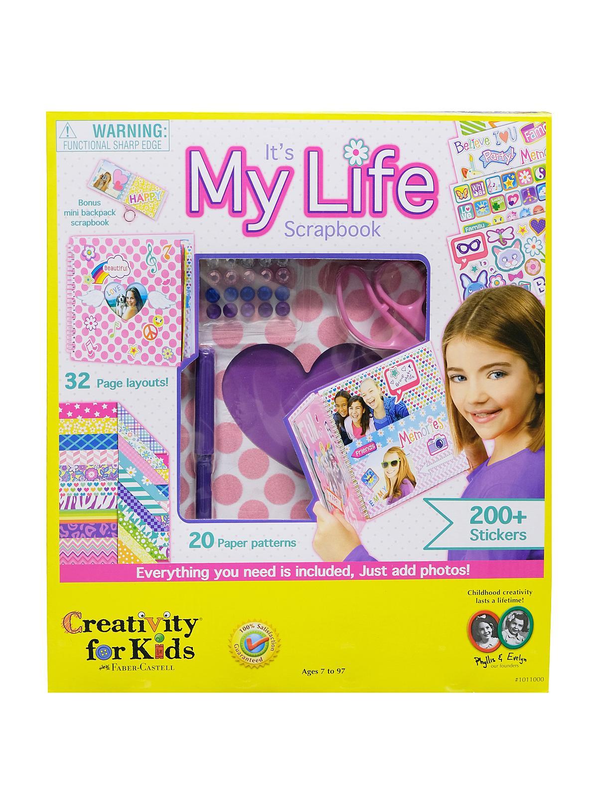 Creativity For Kids It S My Life Scrapbook Kit