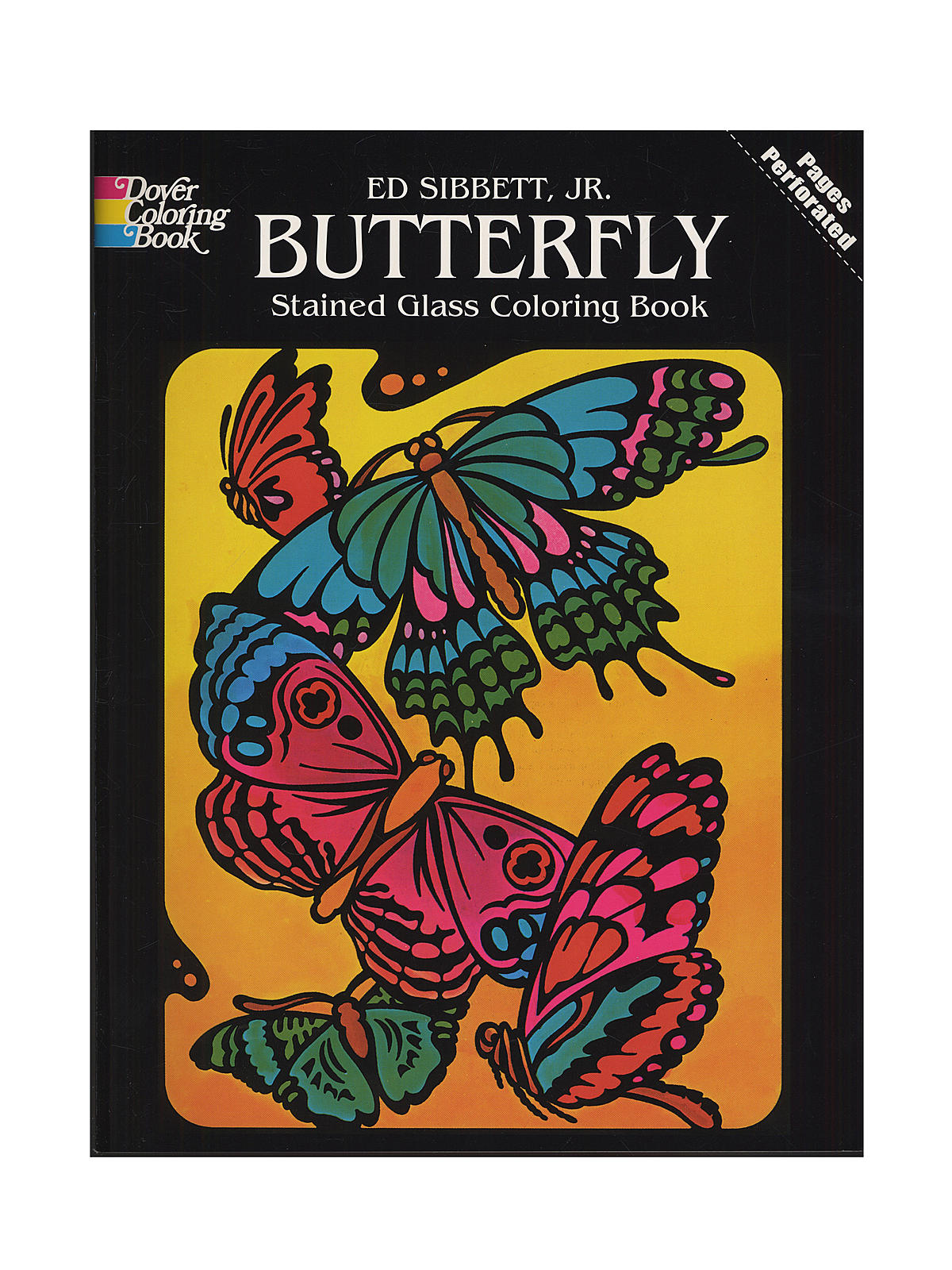 Dover Butterfly Stained Glass Coloring Book